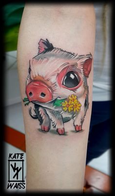 Little piggy tattoo
