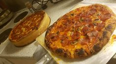 Chicago vs New York in my humble kitchen #Pizza