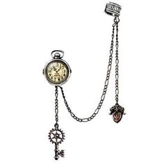 Alchemy stud earring steampunk Timepiece gothic E349