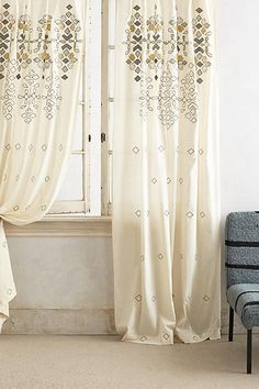 Sequined Curtain - anthropologie.com
