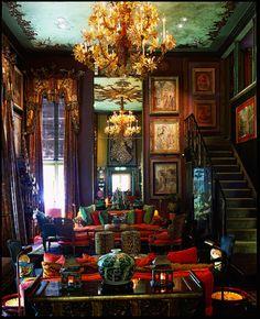 Amazing 10 Dark Bohemian Decor Ideas for Your Home – Home and Apartment Ideas Dark Bohemian, Bohemian Style, Ethnic Style, Bohemian Living, Interior Decorating, Interior Design, Bohemian Decorating, Design Interiors, Interior Ideas