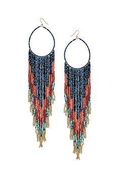 Cascade Beaded Hoop Earrings - Topshop USA Gaudi 60c8ea71d4