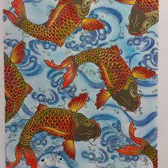 «Carpas,do livro Jardim Japonês #jardimsecreto #colorindomeujardimencantado #colorindolivrostop #artecomoterapia #adultcoloring #terapianojardim…»