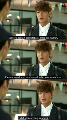 Quotes Drama Korea, Drama Quotes, Movie Quotes, Life Quotes, Tumblr Quotes, Profile Pics, Lee Min Ho, Be Yourself Quotes, Caption