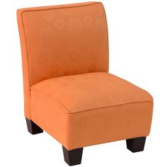 Skyline Furniture Flower Pad Orange Kids Slipper Chair By Skyline Furniture