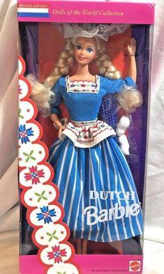 1993 Mattel Dutch Barbie Dolls of the World Collection 11104 Factory Sealed Barbie 80s, Barbie Dolls For Sale, Mattel Dolls, Vintage Barbie, Princess And The Pauper, Glitter Hair, Disney Dolls, Barbie Collector, Barbie Friends