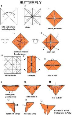 Art Ideas Tutorials Paper Bed Jewelry Diagrammes Origami Butterfly Instructions Papillon Quilling