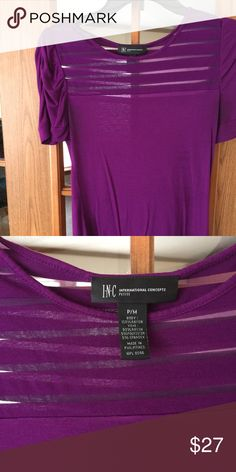 Gorgeous top! Looks great under a blazer or sweater; dress pants or jeans 💜 INC International Concepts Tops Tees - Short Sleeve