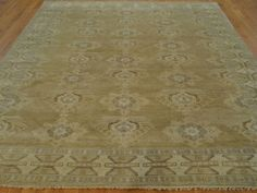8-x-10-HAND-KNOTTED-GOLD-OUSHAK-ORIENTAL-RUG-VEG-DYES-G19904
