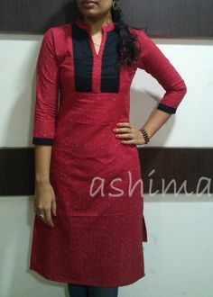 Code:2101160 -Ikkat Cotton Kurta- Price INR:790/-
