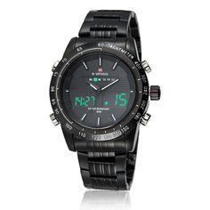 Watches Mens Luxury Brand Full Steel Quartz Clock Digital LED Watch Army Military Sport watch relogio masculino Black White >>> Find out more about the great product at the image link. Mens Sport Watches, Watches For Men, Men's Watches, Luxury Watches, Mens Luxury Brands, Waterproof Sports Watch, Digital Wrist Watch, Led Watch, Casual Watches