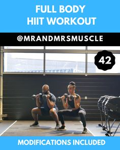 Full Body HIIT Session Full Body HIIT Session,Full Body HIIT Workouts Pin, Share and Try this Full Body Burner With Low impact modifications. Perfect for those that are just starting out, injured or those. Workout Hiit, Dumbbell Workout, Workout Videos, Gym Workouts, At Home Workouts, Fitness Exercises, Arm Exercises, Stomach Exercises, Workout Men