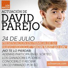 No te pierdas la presentación del nuevo videoclip de David Parejo el jueves 24 de julio a las 19:00 en nuestro centro.