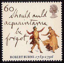 Robert Burns - The Immortal Memory 60p Stamp (1996) 'Auld Lang Syne' and Highland Dancers