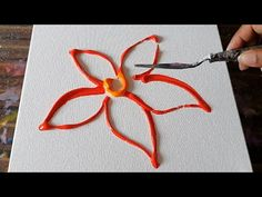 Floral Painting Demo in Acrylics / Easy For Beginners / Relaxing / Daily Art Therapy / Day Art Abstract Art Painting Acrylics art Beginners Daily Day Demo Easy Floral painting Relaxing Therapy Acrylic Painting Flowers, Acrylic Painting For Beginners, Acrylic Painting Techniques, Acrylic Art, Pour Painting, Acrylic Paintings, Art Quotidien, Canvas Art, Abstract Art