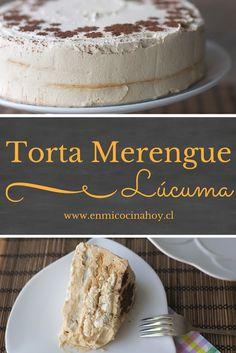 La torta de merengue lúcuma es una de las más tradicionales en Chile. En EEUU pueden comprar lúcuma en polvo para prepararla en casa..