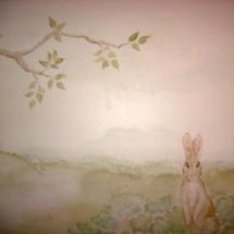 Vintage Water Color Baby Boy Beatrix Potter Peter Rabbit Theme Nursery Wall  Mural Painting
