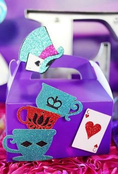 Mad Hatter favor box Ever After high favor box by Glamsweets