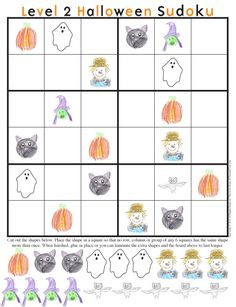 Halloween Sudoku Printable...A great ideas for a classroom party activity