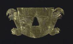 Unknown, Chimú Burial Mask, Precolumbian, 1100-1470 Chimú Metalwork; Made in Chicama Valley, Peru Memorial Art Gallery