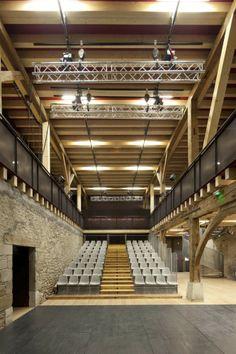 Theatre du Châtelard - Clermont Architectes       Originally a 16th century farm building now a theatre.