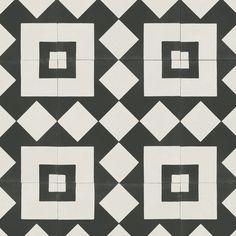 Portuguese Tile Effect Cushioned Vinyl Flooring Sheet Sintra 73 Tile Effect Vinyl Flooring, Cushioned Vinyl Flooring, White Carpet, Blue Carpet, Vinyl Show, Black And White Tiles, Black White, Carpet Installation, Home Comforts