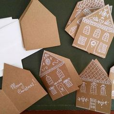 pin + insta // @ for t and f i e l d ♥ gingerbread house cards - nadal - bread . - pin + insta // @ for t and f i e l d ♥ gingerbread house cards – nadal – bread recipes – - Pop Up Christmas Cards, Homemade Christmas Cards, Holiday Cards, Christmas Holidays, Christmas Crafts, Christmas Decorations, Reindeer Christmas, Merry Christmas, Christmas Sentiments