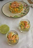 Tartar de aguacate, mango y langostinos Canapes Recipes, Salad Recipes, Appetizers, Healthy Recipes, Everyday Food, Fresh Rolls, Catering, Seafood, Brunch