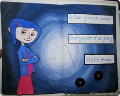 Wreck this Journal - Sew this Page - Coraline
