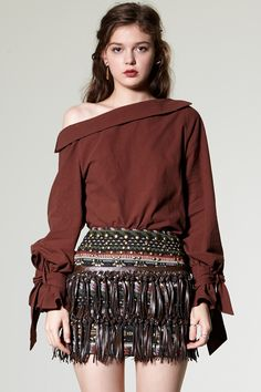 Ivano Fringe Skirt Discover the latest fashion trends online at storets.com #Lounge  #Tassel Skirt  #Lounge