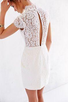 Keepsake Run The World Lace-Top Shift Dress