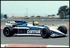 Ayrton Senna  Brabham BT52 BMW   Test Paul Ricard 1983