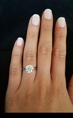 A beautiful carat round diamond engagement ring Grey Diamond Ring, Round Diamond Engagement Rings, Unique Rings, Round Diamonds, Nail Colors, Nails, Winter, Beautiful, Jewelry