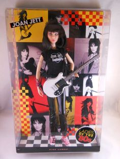 Ends n 4 hrs! Joan Jett Ladies Of The 80's Barbie New In Box