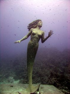 Underwater Mermaid Statue