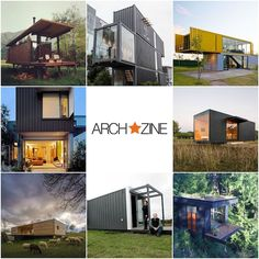 Container Haus - ein sehr günstiges Eigenheim - Archzine.net Tiny Container House, Tiny Houses, Home, Kitchens, Tiny House Cabin, House Design, Build House, Cottage House, Architecture