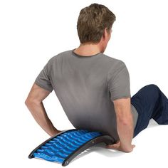 Using own body weight pressing nodes against back, soothing fatigued muscles for relaxation & rejuvenate. Curved shape helps realigns spine back to natural shape, countering the effects of slouching.