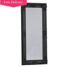 Full Length 'Kingston' Mirror In Black
