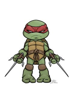 Chibi Raph by Chadwick-J-Coleman -Raphael is THE BEST one, FACT. He's a smart-a$$, he uses defensive weapons, & he has the red mask. Try to deny it all u like. Raph=#1