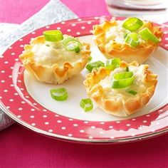 Mini Crab Tarts Recipe -Frozen phyllo tart shells bake up to crispy perfection that's heavenly with this warm, rich, creamy filling. They're a snap to prepare with canned crabmeat. —Linda Stemen, Monroeville, Indiana