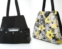 floral tote bag tapestry handbag purse diaper bag by daphnenen