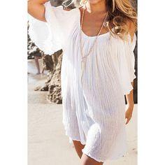 Stylish Off-The-Shoulder Half Sleeve White Women's Blouse
