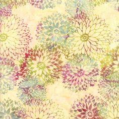 Hoffman Bali Batiks Vanilla Batik Dahlia