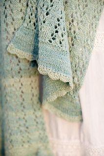 Free scarf pattern- Foliolum by Joanna Johnson (pretty color too)