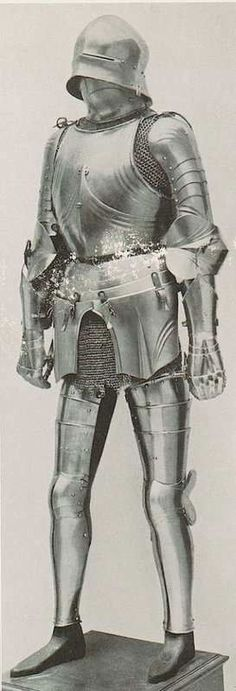 Composite armour and possibly 19C fake components?  The legs seem to be Italian in style while the arms and cuiras are possibly Tyrolian?