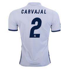 0b058c1b6 2016 Dani Carvajal Jersey Number 2 Home Men s Authentic Real Madrid Team Real  Madrid Shirt