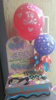 Rose Bun, Ideas Para Fiestas, Birthday Decorations, Diy And Crafts, Christmas Bulbs, Birthday Gifts, Holiday Decor, Box Packaging, Party Kit