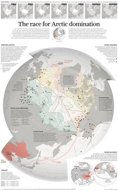 Arctic: claims, military and resources by SCMP #map #arctic