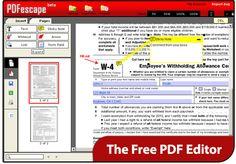 PDFescape is a free, online PDF reader, editor, form filler, & form designer.