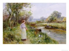 Feeding the Ducks Giclee Print by Ernest Walbourn at AllPosters.com